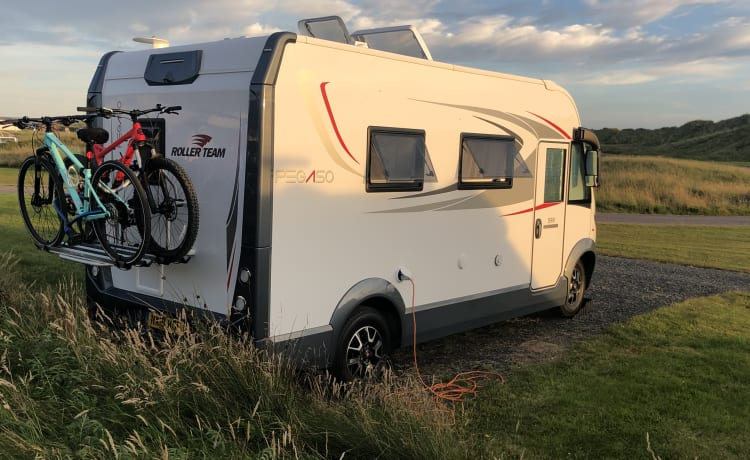 """""""Peggy"""" – 2019 Pegaso 590 A-klasse camper met 4 slaapplaatsen"""