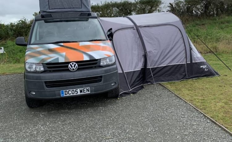 TOBY  – 'Toby' T5 Pop Top Volkswagon LWB 4 Birth