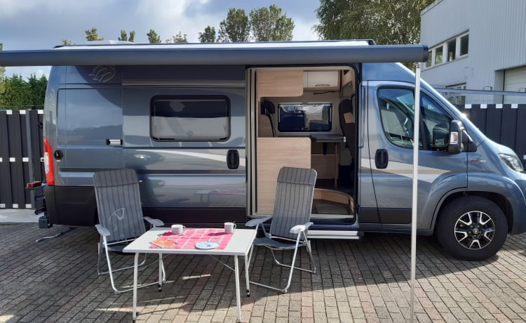 For rent almost new luxury 2-person bus camper diesel automatic