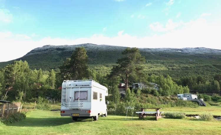 Uus op wielen – No mountain too high for this camper