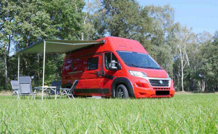 Nieuwe 2020 | Luxe camperbus | met hefbed | camera | navigatie
