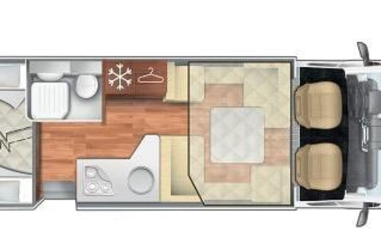 Luxe mobilhome voor 6 personen – Luxury Mobilhome new 2021 for 6 people
