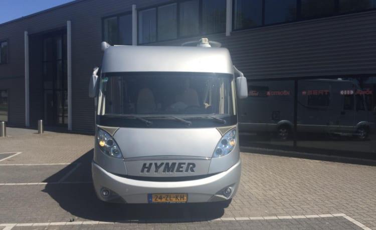 Hymer – Compleet ingerichte 4p.camper klaar voor super vrije vakantie