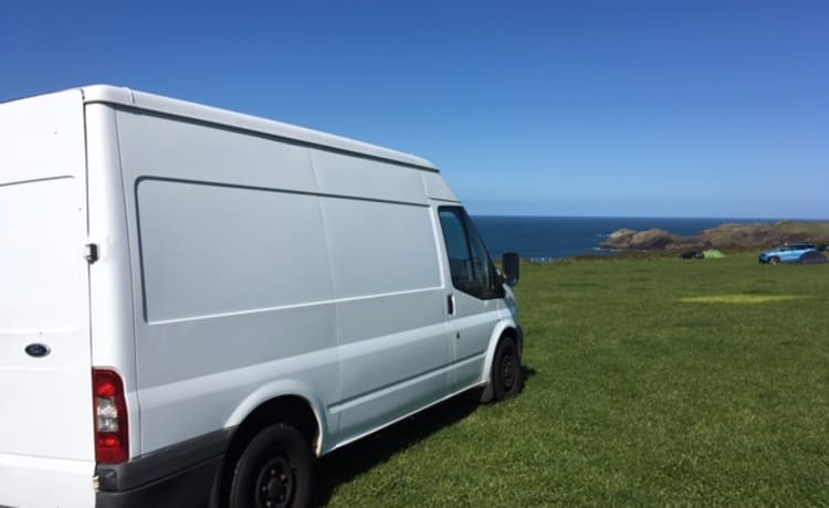 Bernadette – Ford Transit year-round stealth, off-grid conversion