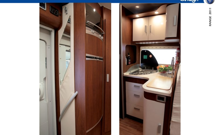 Motorhome for rent for 4 persons driving license B