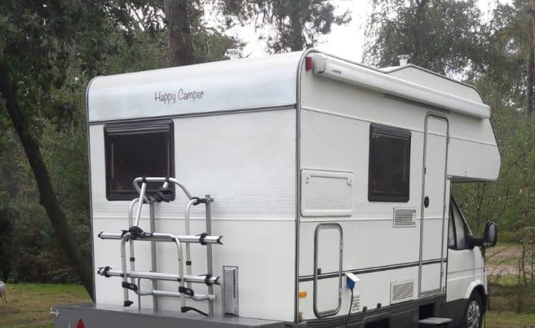 Happy camper with nice interior