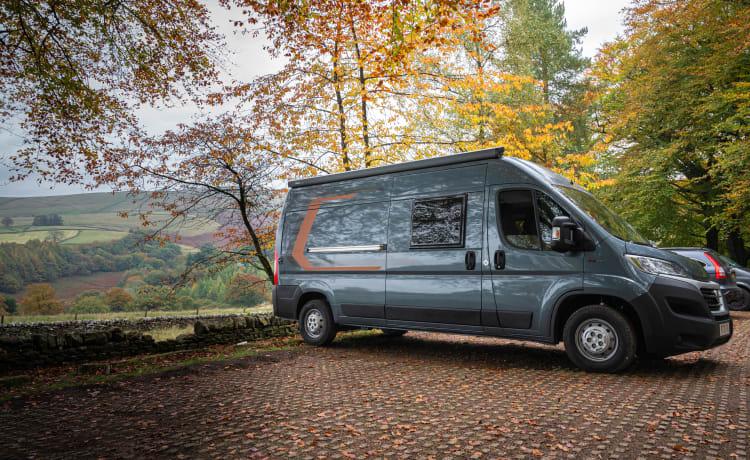 Alpine II - Gloednieuwe Carabus 600K-campervan