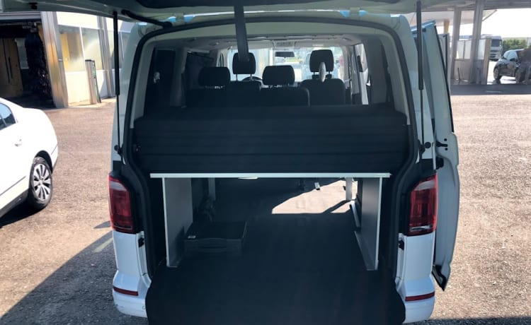 Rental van VW T6 with two beds