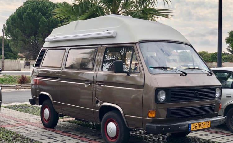 Attractive and complete Volkswagen T3 camper (Diesel)