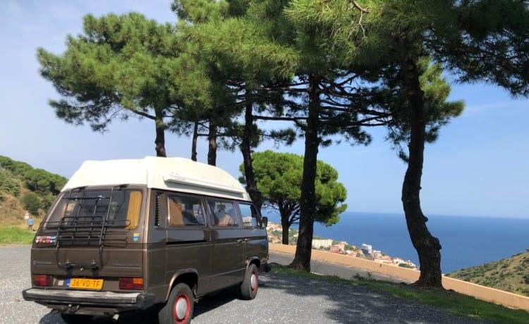 Sfeervolle en complete Volkswagen T3 camper (Diesel)