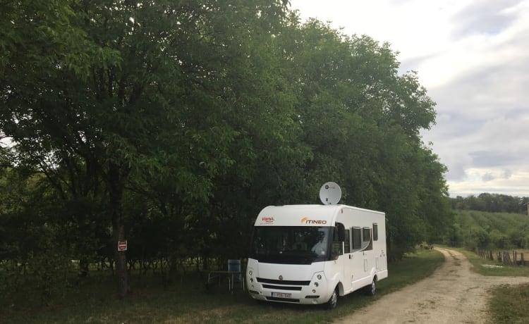 In giro con questa casa mobile per famiglie