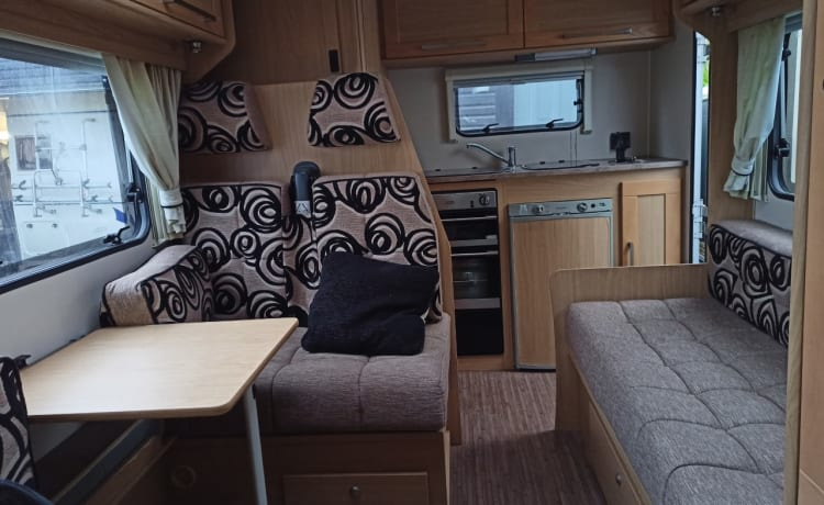 4 Berth Fiat Ducato, stylish, comfortable and all mod cons.