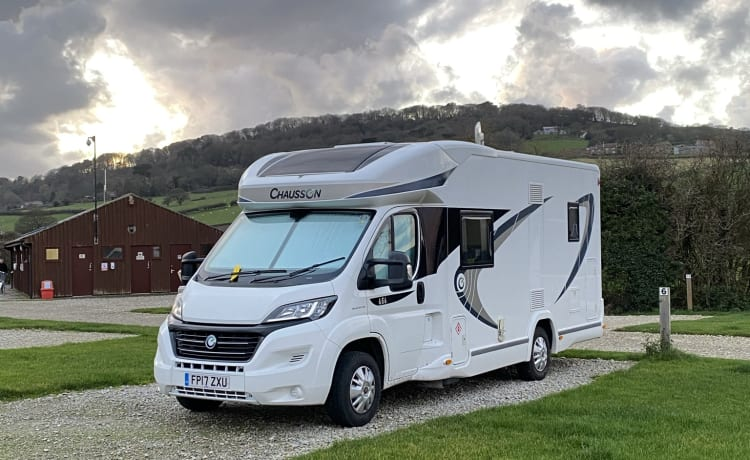 Margo – Hire Margo our immaculate seven berth Chausson Motorhome.