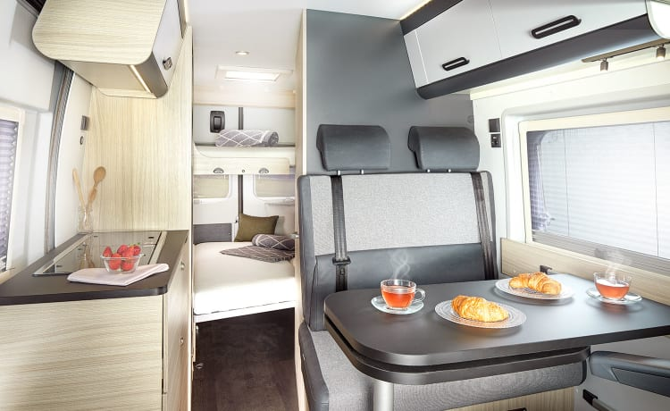 Brand new campervan with a surprising amount of space
