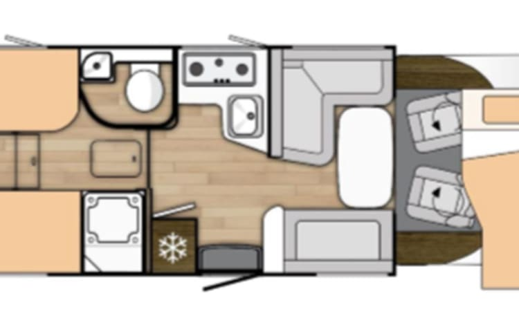 Ruime familie mobilehome - Ford Benimar cocoon 463 - 170pk