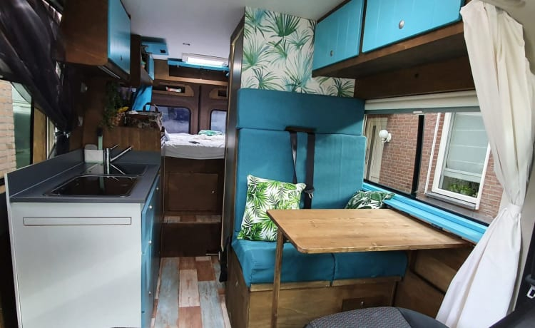 Cozy, very complete bus camper