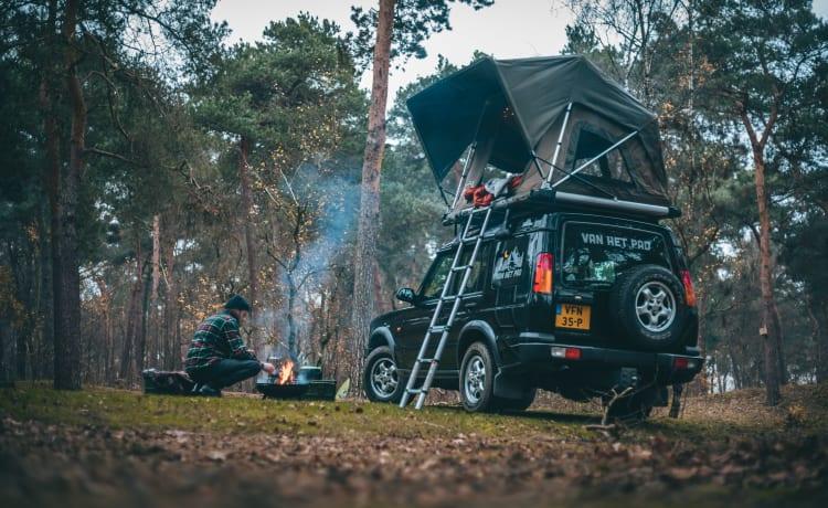 WOLF – Avventura e libertà con una Land Rover con tenda da tetto!