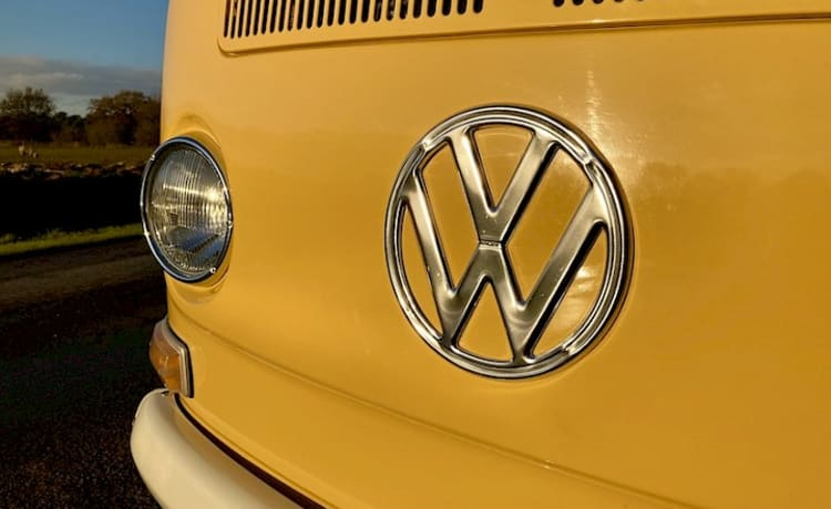 Introducing, Miss Daisy. A lovingly restored VW T2 Camper