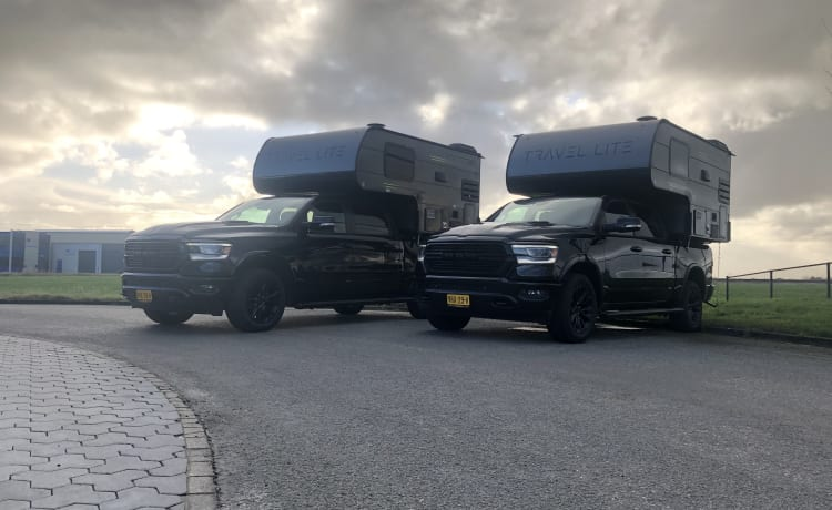 Camper Alpha – Dodge Ram 1500 met afzetbare travel lite camper unit!