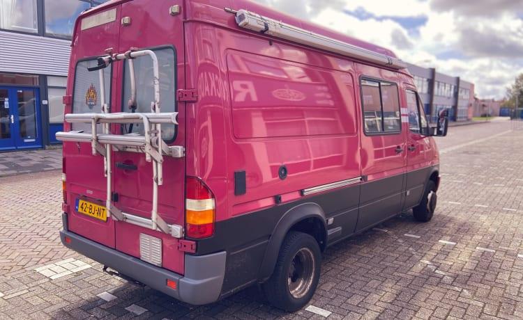 Purple Beast – Mercedes Sprinter omgebouwde camper
