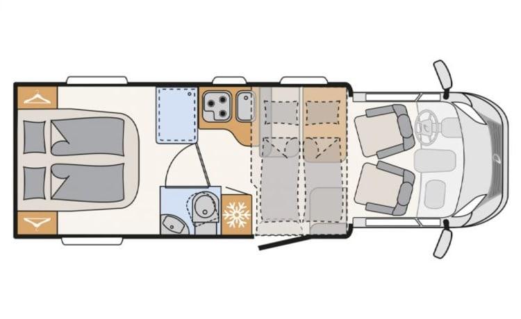 BEACH – NIEUWE (BJ. 2021) Dethleffs TREND 7057 DBM AUTOMAAT