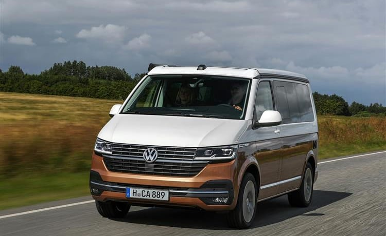 VW California automatic, full option, 2021 with surfboard holder