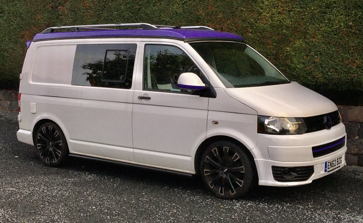 Barney – Barney is a stunning 2013 conversion with a funky Purple Pop Top