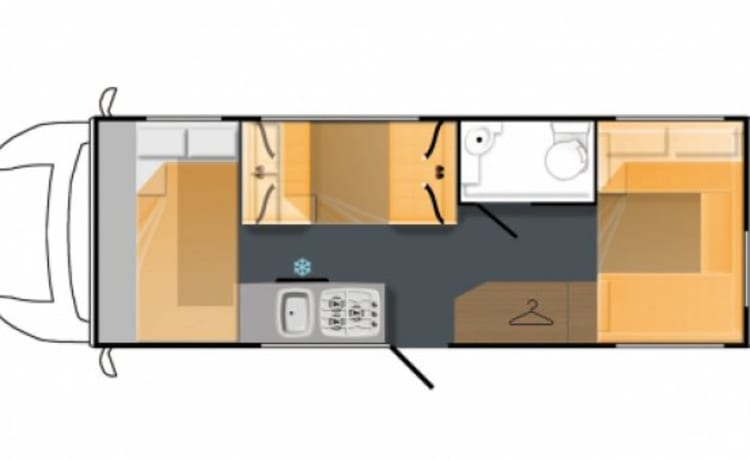 Family 6 Berth 6 Seats Motorhome (Eldiss Autoquest 180)