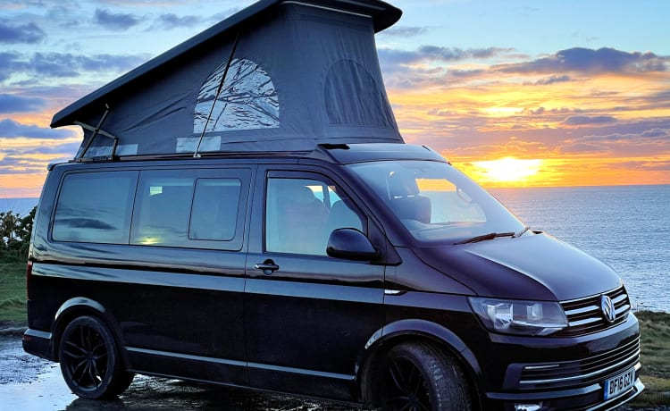 "Morvoren – ""Morvoren"", our luxury VW T6 Highline Campervan with pop top"