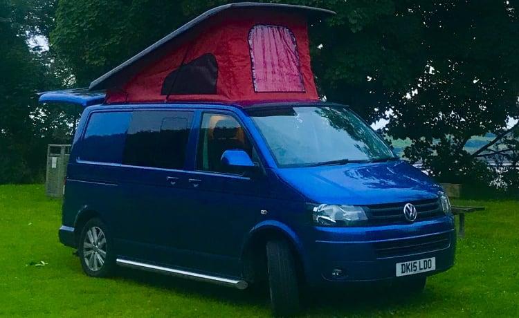 Blue Belle – Blue Belle, VW Transporter camper