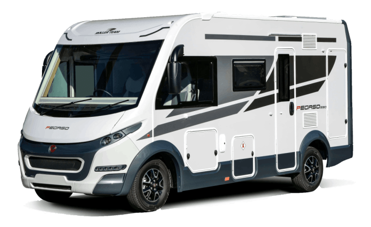 Betty – Rollerteam Pegaso 590. New 2020 luxury A class. 4 berth. Known as Betty.