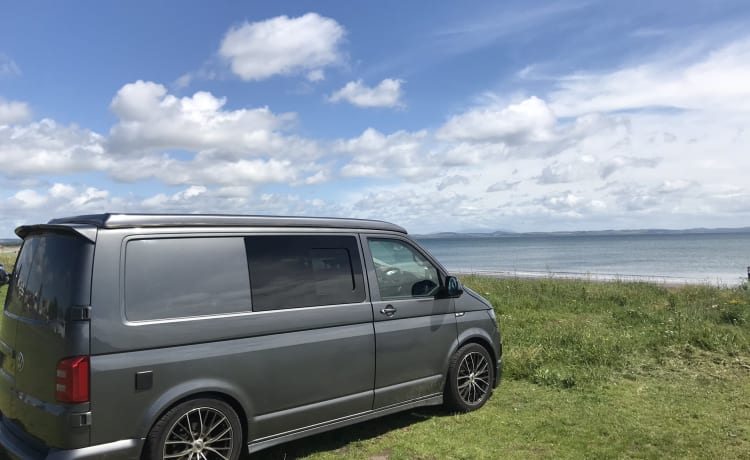VW T6 Camper conversion with awning
