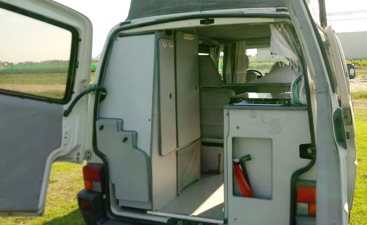 Jippie – Volkswagen T4-camper met hefdak