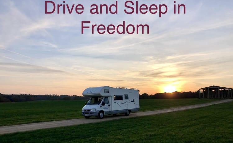 Ideale, nette comfortabele gezins camper