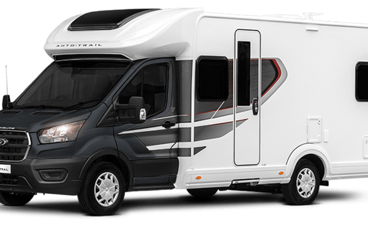Bruce – Autotrail Tribute F70. 2021 luxury 4 berth motorhome. Known as ''Bruce''.