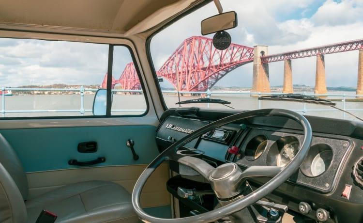Bruce – Reis door Schotland met Bruce - Vintage VW T2-campervan
