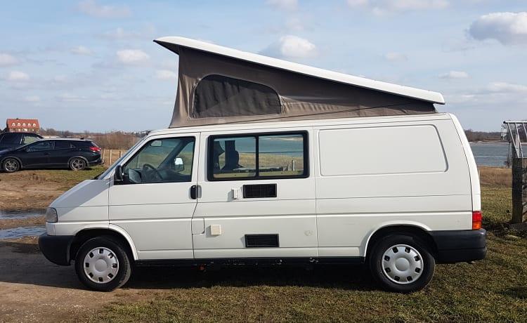 Compacte verlengde Volkswagen met hefdak