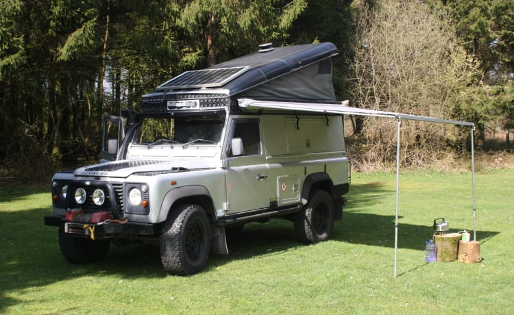 Silver Belle – Land Rover Camper for couples and family's. 4x4 for Wild camping adventure