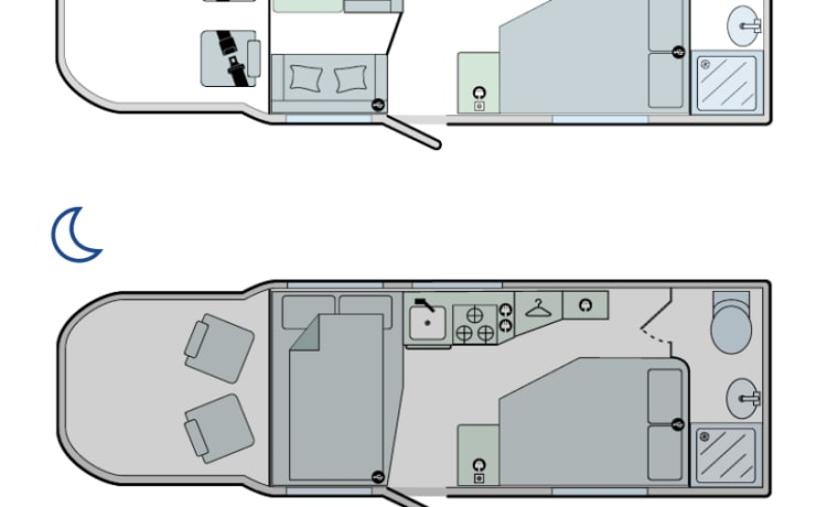 Luxe ultramoderne camper