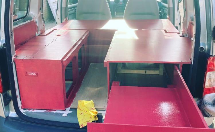 Wee-man – Kleine compacte Caddy Camper