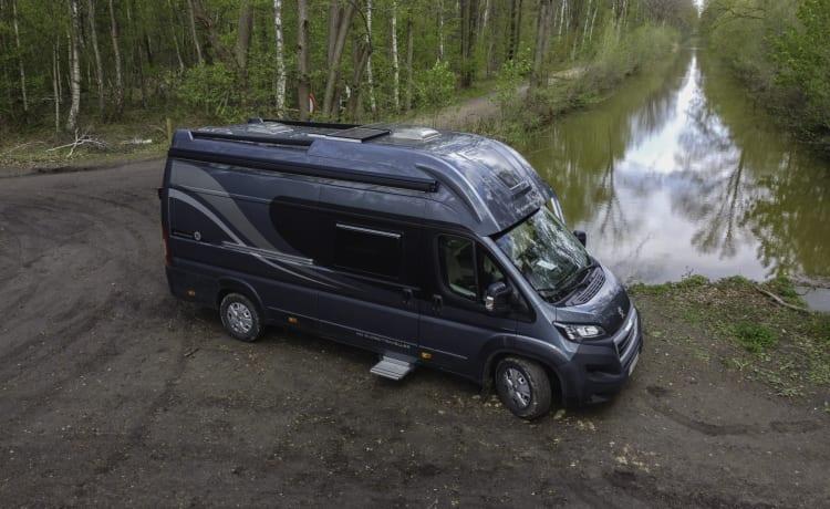 De Kamielmobiel – Ottimo camper per 4 persone Globetravel Pathfinder