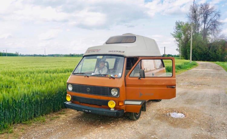 T3 joker – Hippie Volkswagen busje uit de jaren 80