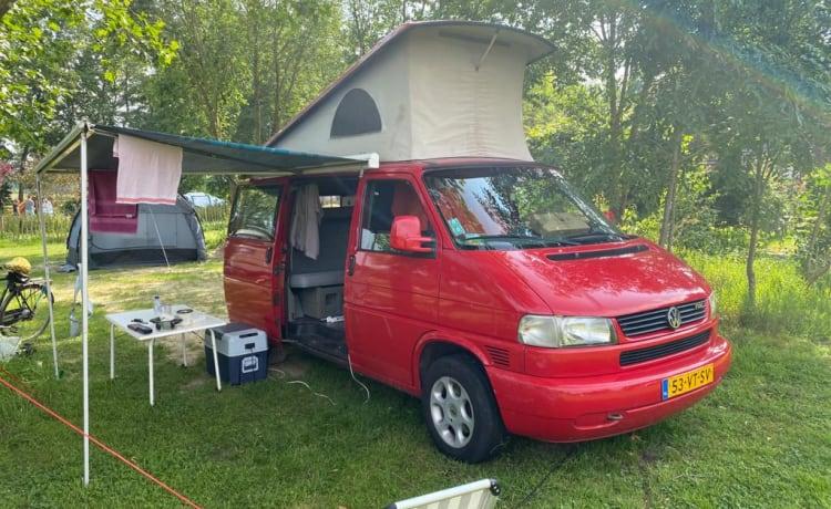 VW T4 camperbusje met hefdak