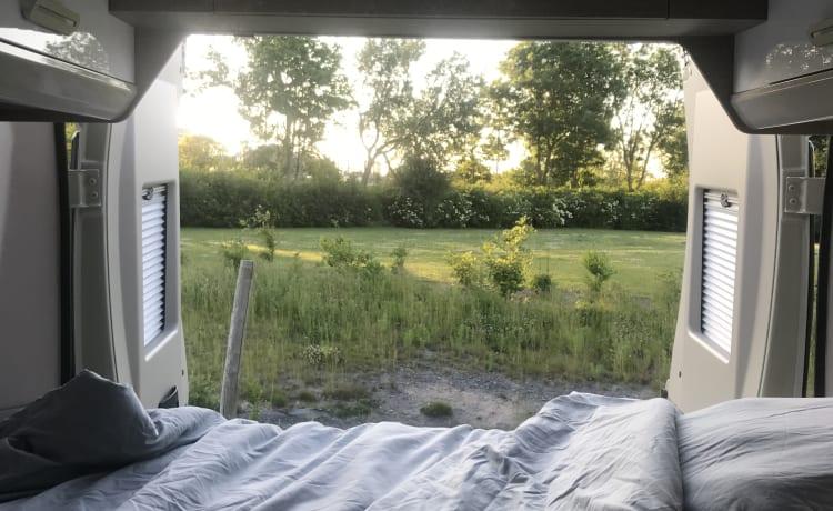 Camper per autobus di lusso compatto con tetto a soffietto a scomparsa