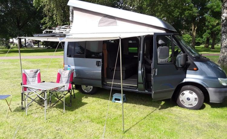 4 persoons Ford Nugget camper met hefdak