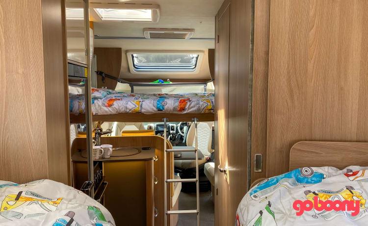 Moby – 4/5 persoons moderne en comfortabele camper