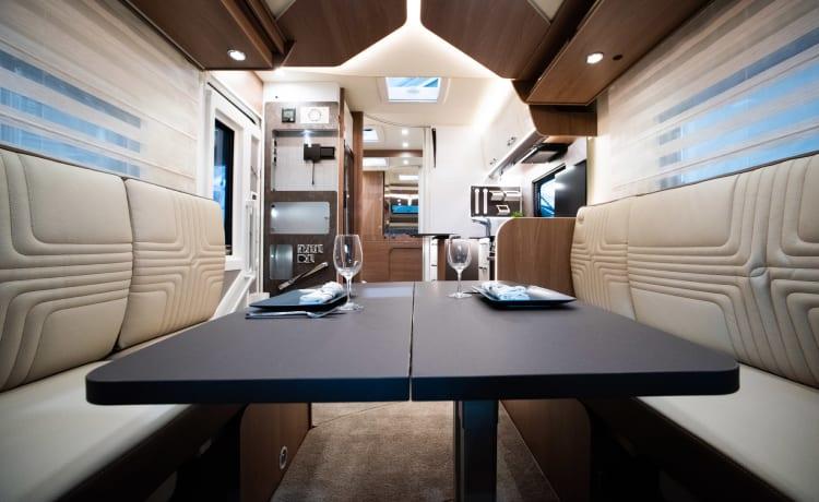 Nieuwe luxueuze camper Burstner Futura
