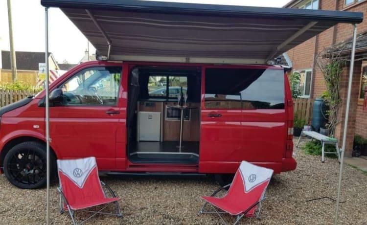 Tetto sollevabile per camper ARTHUR Volkswagen T5.1 Transporter 4 posti TV