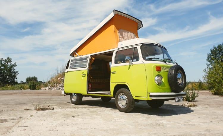 Mr. Lime – Klassieke Volkswagen T2 Camper
