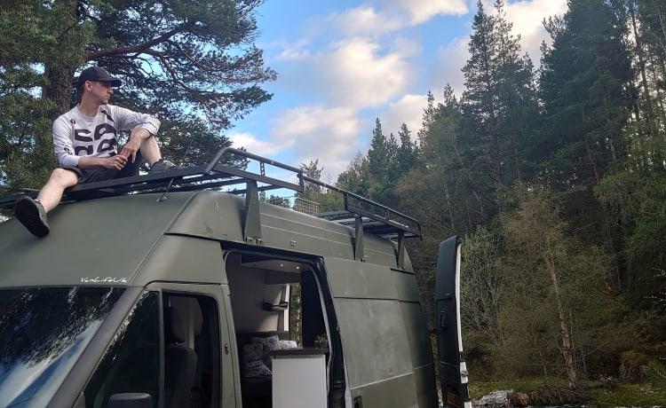 Nomad – Op maat gemaakte hondvriendelijke avonturenbus